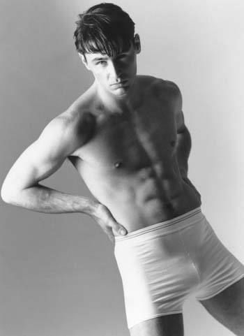 Ian Roberts in Black and White Body Shot by Simon Powell